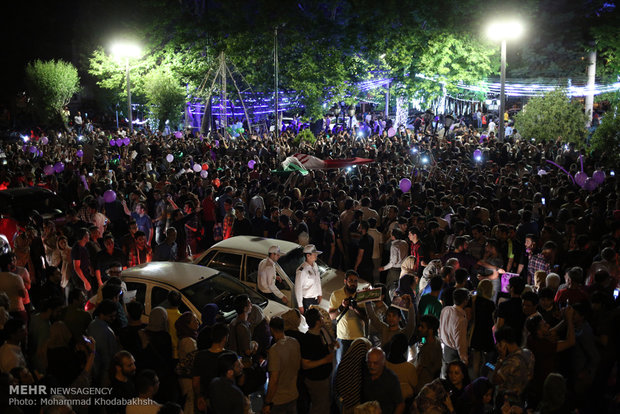Rouhani reelection celebrated in Tehran