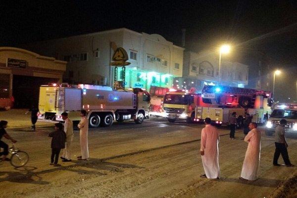 Suudi güvenlik güçleri yangın söndürme işlemine izin vermedi