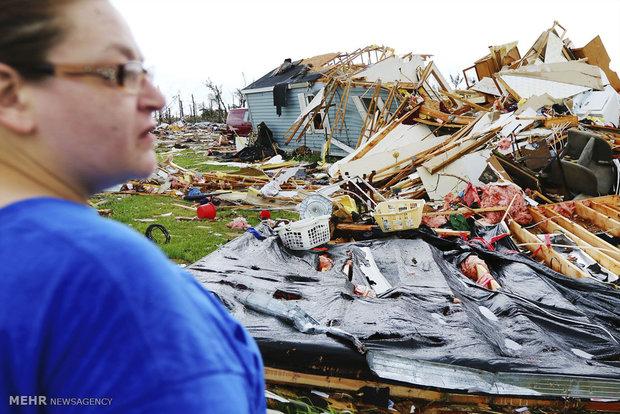 طوفان در ایالت های مرکزی آمریکا