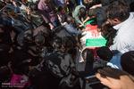 کرج میں مدافع حرم  شہید کی تشییع جنازہ