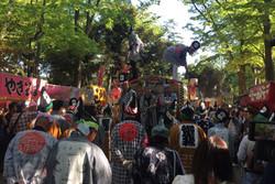 تطهیر شهر و گردش روح خدایان در یک آئین ژاپنی