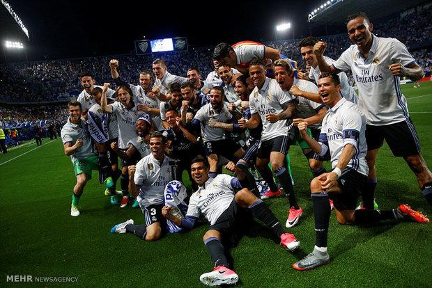 دیدار تیم های فوتبال مالاگا و رئال مادرید