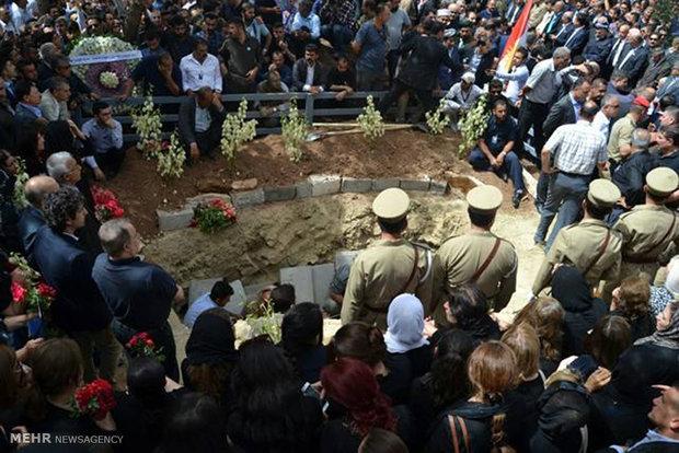 مراسم تدفین نوشیروان مصطفی