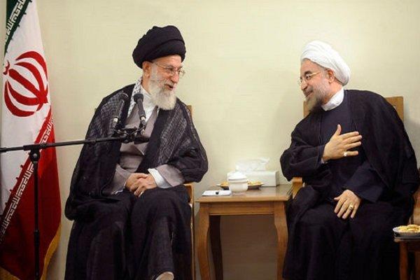 İnkılap Rehberi Cumhurbaşkanı Ruhani'yi kabul etti