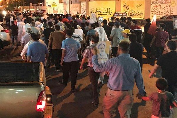 Bahreyn halkının Al Halife karşıtı gösterisinden görüntüler