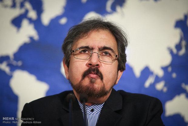 بهرام قاسمي: ليس من الصعب على ايران اثبات التزامها بالإتفاق النووي