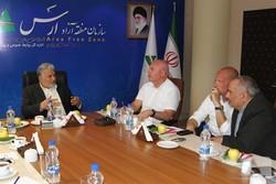 دیدار عرب باغی مدیرعامل سازمان منطقه آزاد ارس با هیئت اقتصادی آلمان