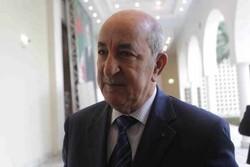 رئیس جمهور الجزایر به قرنطینه رفت