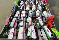 إيران : إعادة رفات 135 شهيدا من شهداء الدفاع المقدس عبر نهر اروندرود الحدودي مع العراق