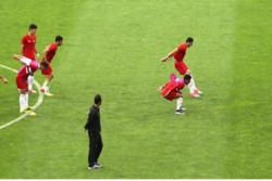 تمرین پرفشار تیم فوتبال جوانان در حضور سردار آزمون