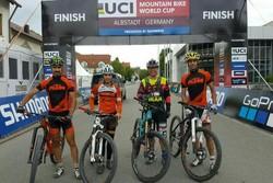 تیم دوچرخه سواری کوهستان در کاپ جهانی آلمان