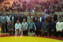 قهرمانان آسیایی کشتی البرز تقدیر شدند