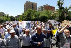 مسيرات جماهيرية في طهران تندد بالممارسات القمعية للنظام البحريني/ صور