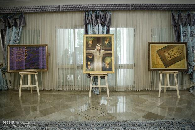 نمایشگاه نقاشی خط جواد بختیاری