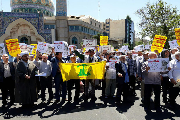Tehran holds protest march for Sheikh Isa Qassimعیسی قاسم