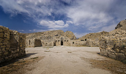 The ruins of Sassanid-era Bishapur Royal Palace in Fars province