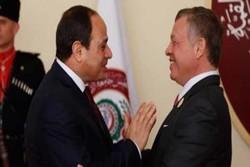 گفتگوی تلفنی عبدالله دوم و رئیس جمهور مصر