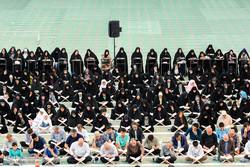 مراسم  تلاوة القرآن الكريم في شهر رمضان في تبريز /صور
