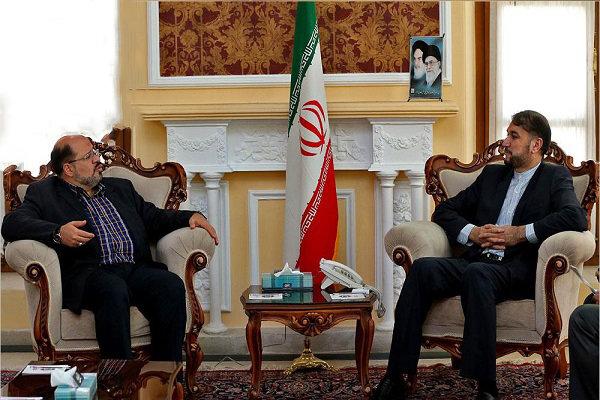 عبداللهيان يلتقي بممثل حركة حماس في طهران