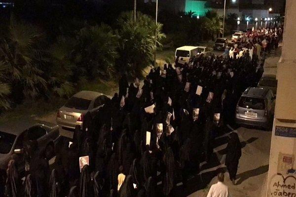 Bahreyn halkından mahpusları anma gösterisi