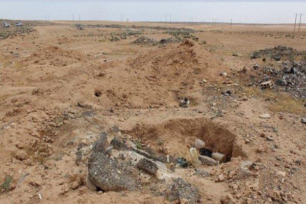 کشف گور دسته جمعی در «الرقه» سوریه