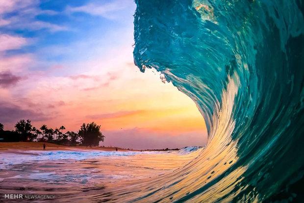 زیبایی امواج