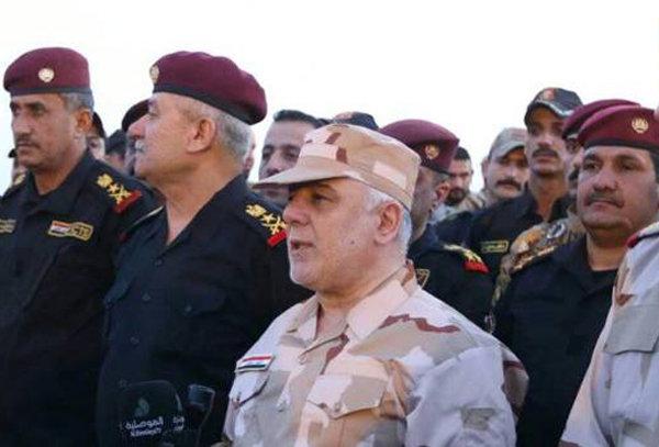 العبادي من الموصل: إعلان النصر سيكون قريباً جداً