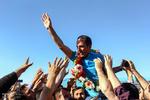 استقبال از عظیم قیچی ساز در تبریز
