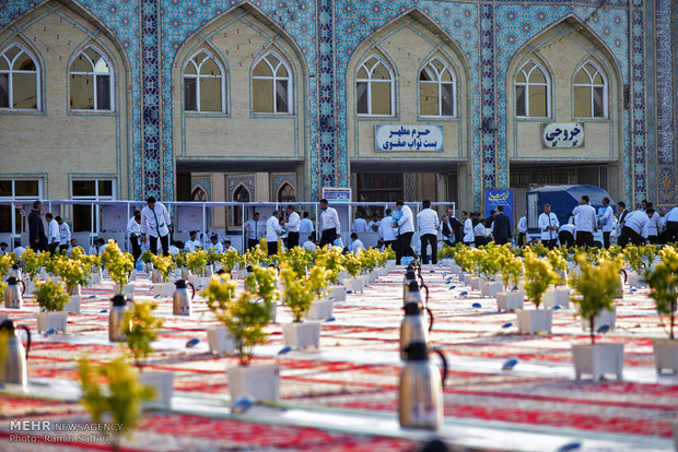 Iftar banquet at Holy Shire of Imam Reza (AS)