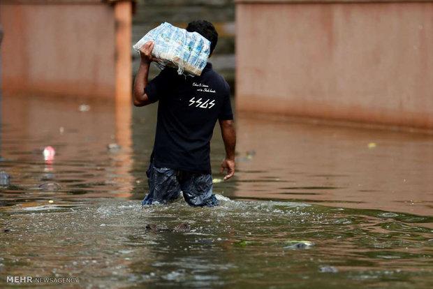 سری لنکا میں موسلا دھار بارشوں سے 14 افراد ہلاک