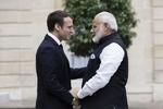 بھارتی وزیر اعظم کی فرانسیسی صدر سے ملاقات/کشمیر پر بات چیت