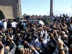 پیکر پاک شهید مدافع حرم «سعید انصاری» به خاک سپرده شد