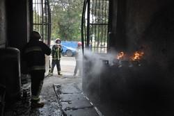 آتش سوزی مغازه
