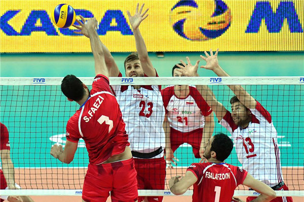 ايران تهزم بولندا في الدوري العالمي للكرة الطائرة