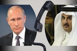 پوتین امیر قطر را در جریان روند تدارک اجلاس ایران، روسیه و ترکیه پیرامون سوریه قرار داد