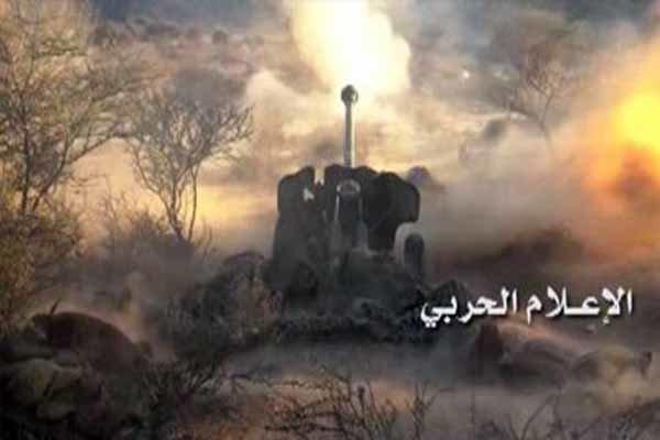 تداوم حملات توپخانهای متجاوزان سعودی به «الحدیده»