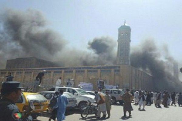 انفجار قرب مقر إجتماع علماء افغانستان في كابول/فيديو