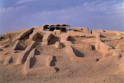 A general view of the Burnt City, a UNESCO World Heritage site in Sistan-Baluchestan Province, southeast Iran.