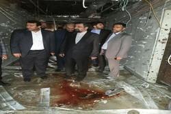 رضایی بازدید از محل حادثه