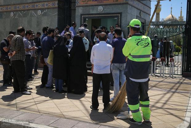 إعادة تمثيل المشهد الإجرامي للهجوم الإرهابي على مرقد الإمام الخميني (ره)