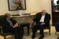 Zarif, UN chief discuss Tehran attacks, regional issues in Astana