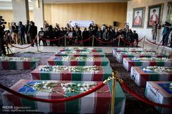 مراسم وداع با شهدای ترور در مجلس
