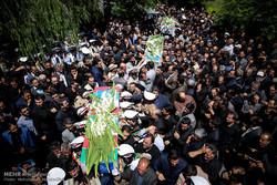تشييع جثامين شهداء الأعمال الإرهابية في طهران