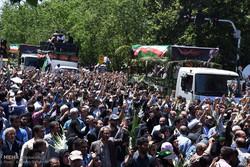 Tahran'daki şehitlerin cenaze töreninden kareler
