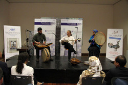 Members of Kaliveh perform a concert at Mexico's National Museum of Cultures.