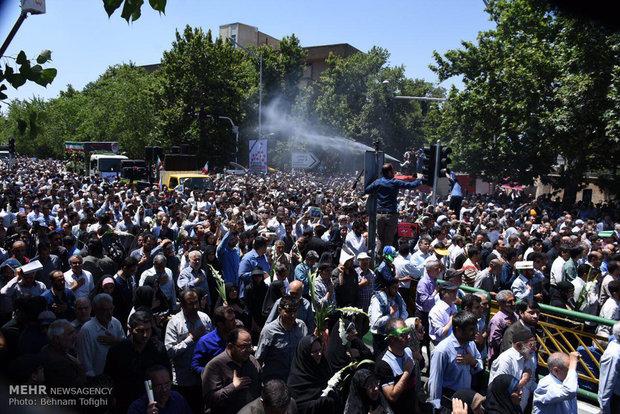 مراسم تشییع شهدای حوادث تروریستی تهران