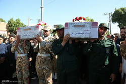 تشییع پیکر دو شهید حادثه تروریستی تهران در خرم آباد