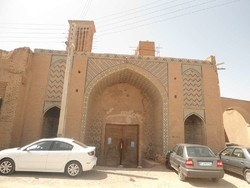 An exterior view of Vakil Caravansary in Kerman province, southern Iran.