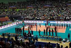 دیدار تیم ملی والیبال ایران و صربستان