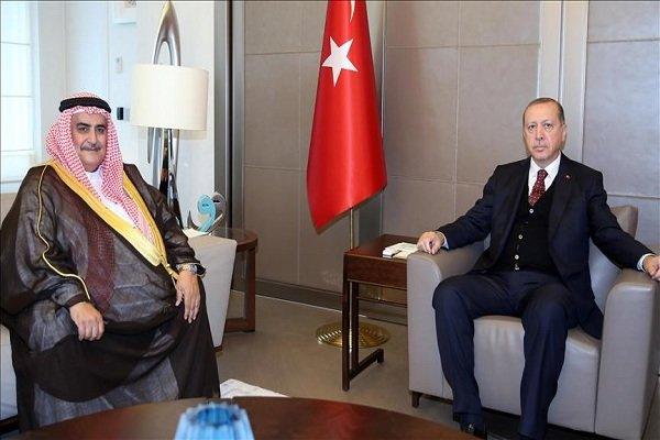 Erdoğan Bahreyn Dışişleri Bakanı ile görüştü